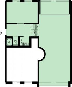 Tekening plattegrond derde verdieping appartementen