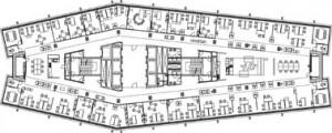 Tekening plattegrond standaard verdieping