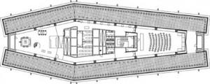 Tekening plattegrond bovenste verdieping