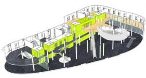 3D impressie onderste bouwlagen