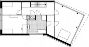 Plattegrond verdieping 1:250
