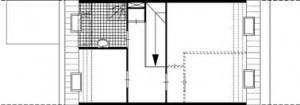 Plattegrond eerste verdieping brede woning 1:250