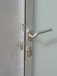 Onorthodox detail deur beheerderstoilet