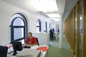 Kantoren op de verdieping