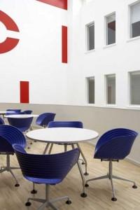 Atrium als heldere, rustgevende ruimte