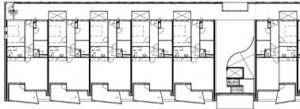 Plattegrond tweede/derde verdieping 1:500
