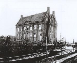 Foto van het oude Huis de Wiers ca. 1910
