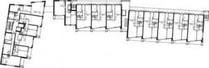 Plattegrond derde verdieping 1:500