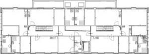 Plattegrond eerste verdieping koopwoning 1:250