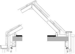 Verticale doosnede dak koopwoningen 1:30