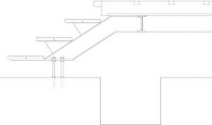 Detail binnenterras