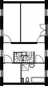 Eerste verdieping type B