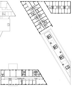 Plattegrond derde verdieping 1:1250