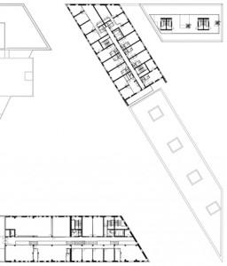 Plattegrond vierde verdieping 1:1250