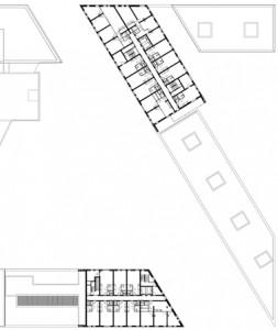 Plattegrond vijfde verdieping 1:1250