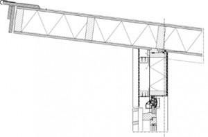 Detail dakrand laabouw
