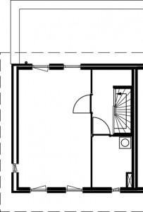 Plattegrond herenhuis tweede verdieping 1:250