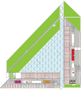 Plattegrond vierde verdieping 1:1000