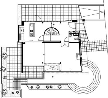 Plattegrond bel-etage 1:200