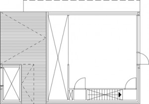Plattegrond eerste verdieping 1:200
