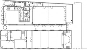Plattegrond eerste verdieping 1:500