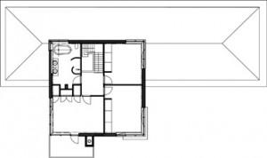 Plattegrond eerste verdieping 1:1000