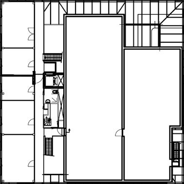Plattegrond tweede verdieping 1:500