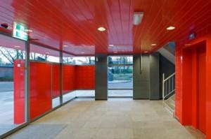 Interieur rode ingangshal