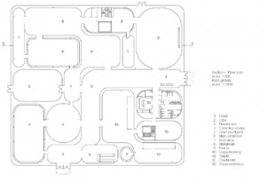 Floor plan scale 1:1500