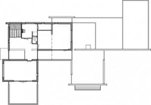 Plattegrond eerste verdieping schaal 1:500