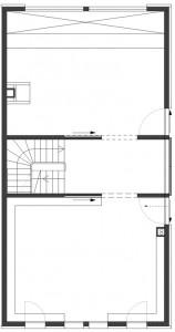 Plattegrond eerste verdieping schaal 1:250