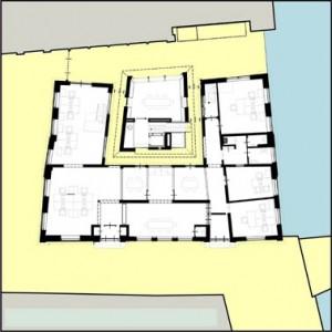 Plattegrond begane grond verdieping 1:400