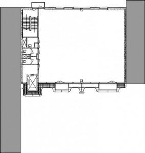 Standaard plattegrond kantoorverdieping 1:500