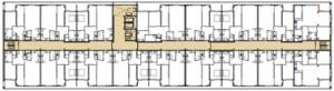 Plattegrond tweede verdieping 1:750