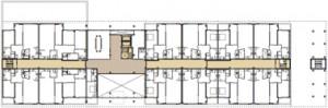 Plattegrond eerste verdieping 1:750