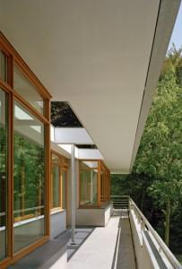 Terras op de eerste verdieping tuinzijde