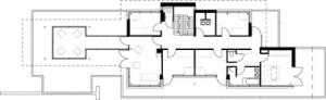 Plattegrond eerste verdieping schaal 1:400