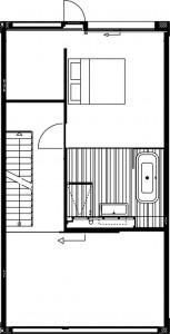 Plattegrond derde verdieping 1:250