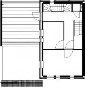 Plattegrond eerste verdieping Alberdink Thijmstraat schaal 1:250