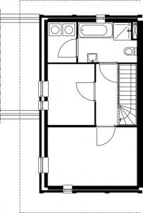 Plattegrond tweede verdieping Alberdink Thijmstraat schaal 1:250