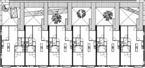 Plattegrond eerste verdieping Hasebroekstraat schaal 1:250