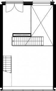 Plattegrond eerste verdieping Oltmanstraat schaal 1:250
