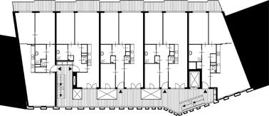 Plattegrond standaard verdieping schaal 1:500