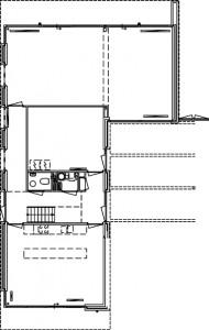 Plattegrond begane grond vrijstaande woningen 1:500