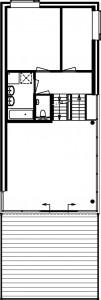 Plattegrond eerste verdieping vrijstaande woning 1:500