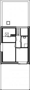 Plattegrond tweede verdieping vrijstaande woning 1:500