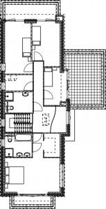 Plattegrond eerste verdieping vrijstaande woning 1:250