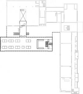 Plattegrond eerste verdieping schaal 1:750