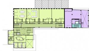 Plattegrond eerste verdieping schaal 1:600