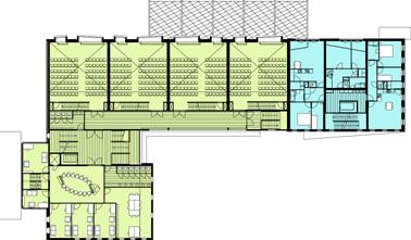 Plattegrond tweede verdieping schaal 1:600